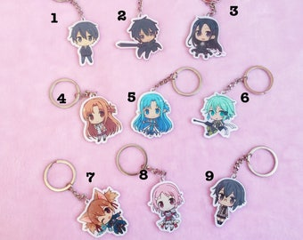 Sword Art Online Acrylic Charms/Keychains