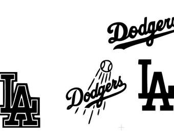 LA Baseball Logos SVG Download