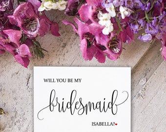 Wedding Day Card for Bridesmaid - Bridesmaid Card - Bridesmaid Cards - Bridal Party Cards - Wedding Day Cards - Wedding Cards