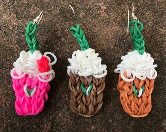 Starbucks Earrings- Rainbow Loom