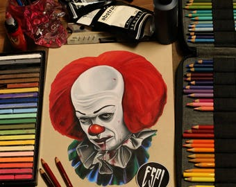 Pennywise The Clown:- Illustrated Print