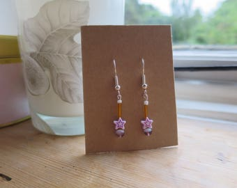 Purple Shooting Star Earrings