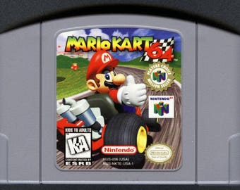 Mario Kart Nintendo 64 / N64 VideoGame Cartridge - Retro Game Reproduction Goodness For The Low!!