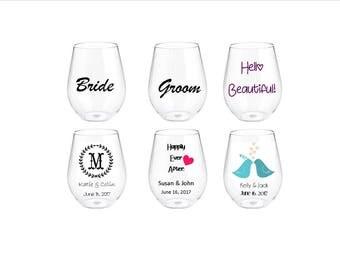 Stemless Acrylic Wineglasses