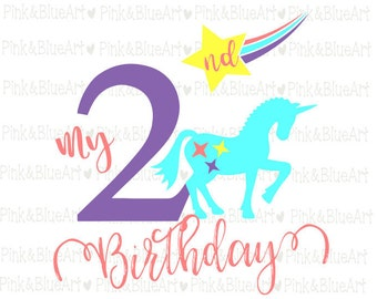 2nd birthday SVG Clipart Cut Files Silhouette Cameo Svg for Cricut and Vinyl File cutting Digital cuts file DXF Png Pdf Eps