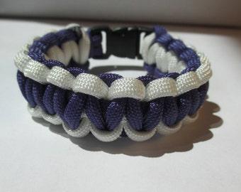 Kids Large Paracord Bracelet (Purple & White)