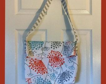 Everyday Tote Bag-Handmade-Pretty High End Fashion Colors-Orange, Light Blue, Designer