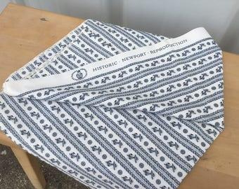 Historic Newport Reproduction vintage fabric cotton anchor print fabric