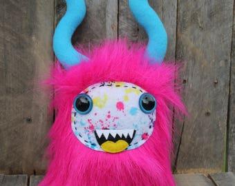 Stuffed monster, Stuffed animal, handmade monster, stuffed critter, plushie, plush monster