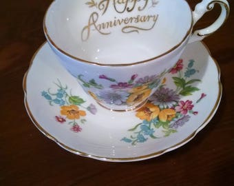 Anniversary Cup and Saucer