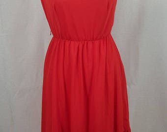 Vintage 1980s Red FREDERICKS OF HOLLYWOOD One shoulder Dress