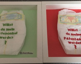 Embroidered pampers / diaper