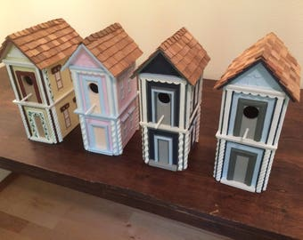 "Victorian Birdhouses  ""Painted Ladies"""