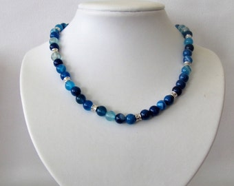 Gorgeous blue agate necklace
