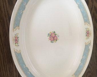 Vintage Edwin M. Knowles Blue Dawn Platter Servingware