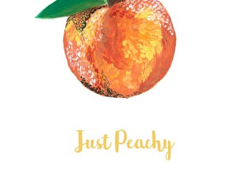 Just Peachy, C5 Greetings Card, Peachy, Happy, Quirky, Thank You Card