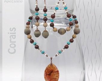 Jewelry Set | Necklace, Bracelet, Earrings | Corais PG402350