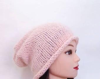 Women slouchy crochet hats Slouchy beanie hat Knitted women hat Crochet beanie Knit beanie Winter beanie Hand knit hat Valentines gift ideas