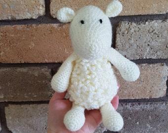 Cream Crochet Sheep