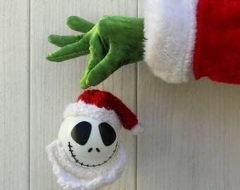 Jack Skellington Santa Ornament, Jack Skellington Ornament, Nightmare Before Christmas Ornament