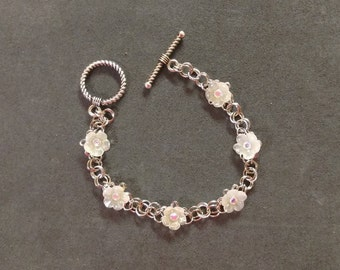 Flower Chainmaille Bracelet