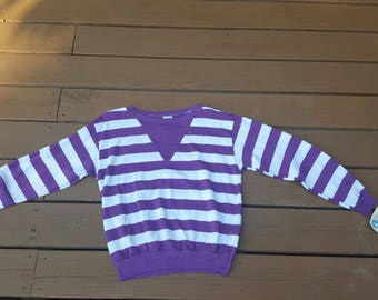 Vintage Deadstock NWT Wrangler Striped Sweatshirt - Women's size Small