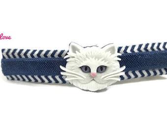 Kitty Cat Barrette, Cat Ears, Cat Ears Headband, Kitty Cat Hair Clip, Hello Kitty, Cat Lover Gift, Grumpy Cat, Barrette, Chevron, Bow