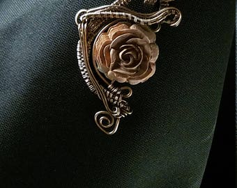 Copper & Rose pendant