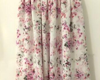 Midi Double Layer Chiffon Skirt