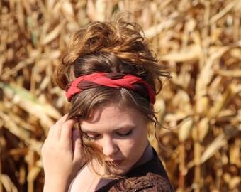 Blushing for Fall Braided Headwrap  // Headband // Headwrap // Headcovering