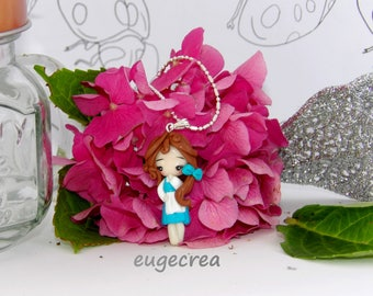 Beautiful Princess necklace with polymer clay