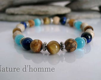 Bracelet ethnic style to the mix of stones and colors Ref: BN-236