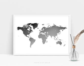 Black and white map Etsy