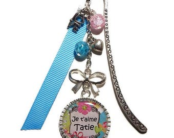 """Bookmark gift AUNTY/AUNTIE """"I love Auntie"""" /personnalisable"""