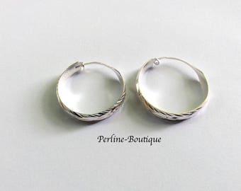 Hoop earrings in Silver 925 28mm