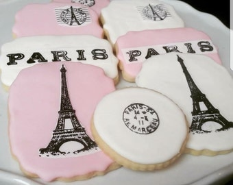 Parisian  Themed Cookies