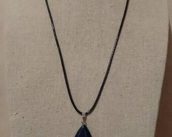 Arenarie Aurifere stone Teardrop Pendant Necklace