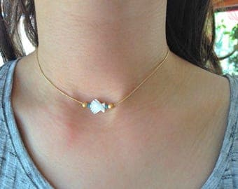 Mother of Pearl shell Choker