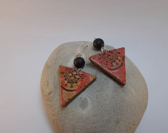 earrings are made of clay called polymer
