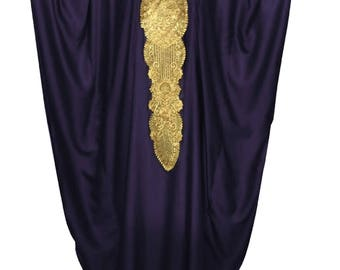 Oversize Blue Kaftan Dress, Plus Size Maxi Caftan Dress Summer Satin Silk Kaftans, Moroccan Black Caftan Dress, Gold Embroidery Kaftan Dress