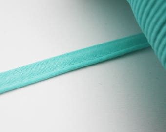 Lame piping Mint green 10 mm, 1 m over mint