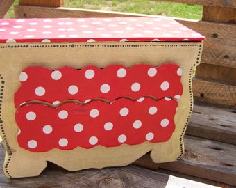 Red and yellow cardboard jewelry box