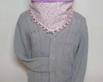 Snood liberty lined fleece purple Choker ~ available ~