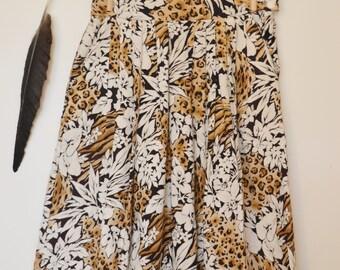 Vintage 1970s Summer Cotton Skirt