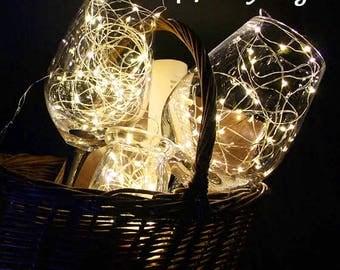 Value Pack, 10 LEDs Fairy Lights, 1 meter, Wedding Decorations lights, LED Mason Jar Wedding Decor, firefly Lights,
