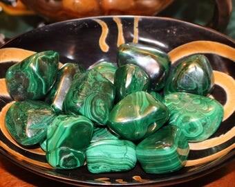 Tumbled Large Malachite, Large Tumbled Gemstone, Malachite Gemstone