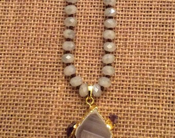 Geode long necklace
