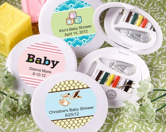 24 Personalized Baby Shower Collection Sewing Kit Favors - Set of 24