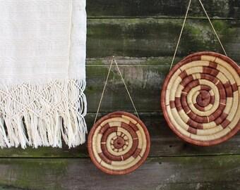 Native American Coil Baskets - Vintage Wicker