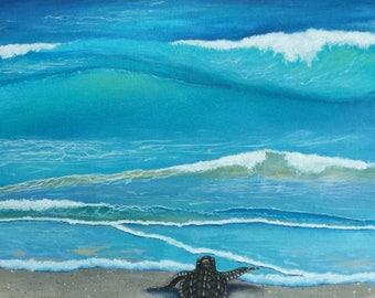 Green sea turtle hatchlings baby sea turtle art print turtle loggerhead hatchling giclee baby sea turtle art print turtle art print nursery decor publicscrutiny Image collections